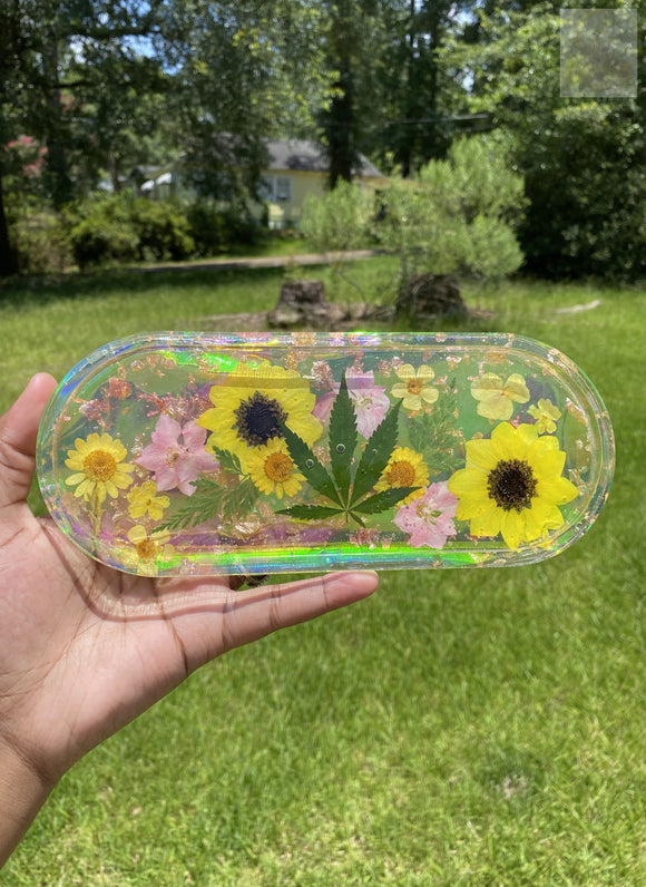 Large Iridescent 420 Rolling Tray