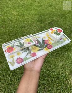 Large 420 Rolling Tray w Compartments