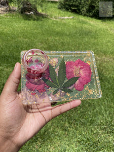 Small Rose Bud Rolling Tray