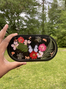 Black and White Butterfly Rolling Tray