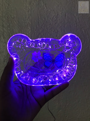 Purple LED Bear Rolling Tray ( SALE )