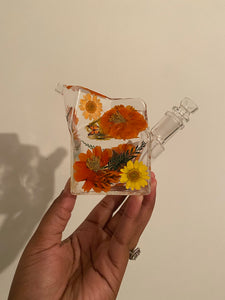 Orange Milk Carton Bubbler