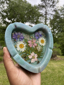 Heart Ashtray and Butterfly Dish Pastel Set