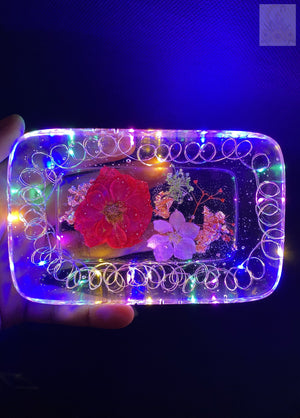 Rainbow Red Rose LED Rolling Tray