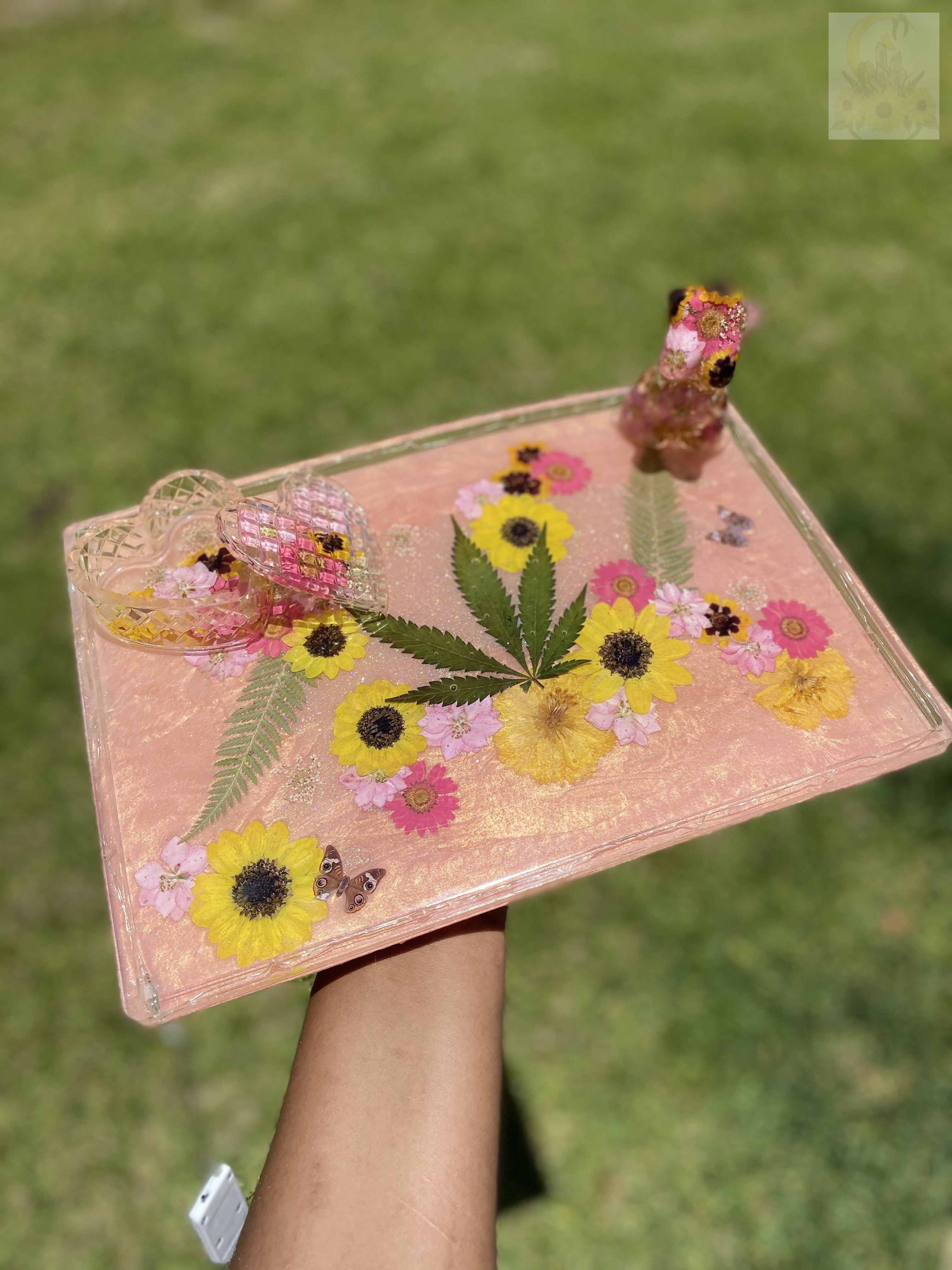 420 Peach Goddess LED XXl Rolling Tray