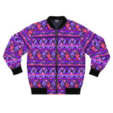 "Pattern ""Tribal Purple"" Bomber Jacket - DCups"