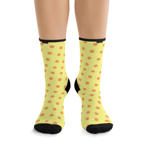 "Pattern ""Orange Dots"" DTG Socks - DCups"