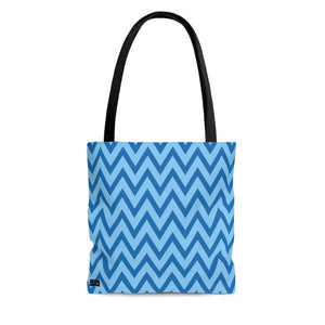 "Abstract ""Blue Waves"" Tote Bag - DCups"