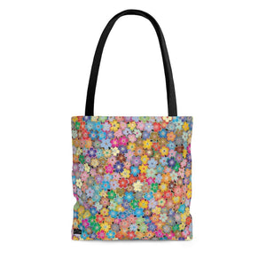 "Abstract ""Flower Wall"" Tote Bag - DCups"