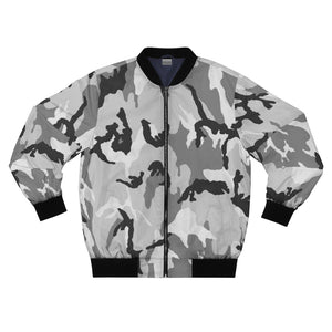 "Camo ""Grey"" Bomber Jacket - DCups"