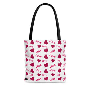 "Pattern ""Love (White)"" Tote Bag - DCups"