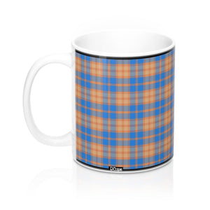 Plaid (Peach, Blue, Tan) Mug 11oz - DCups