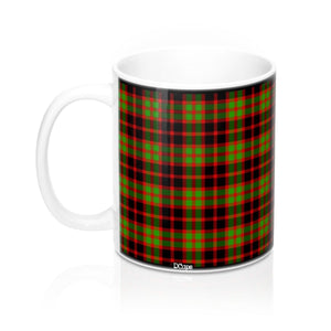 Plaid (Red, Black, Green) Mug 11oz - DCups