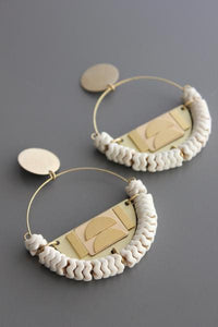 Earrings with brass and magnesite