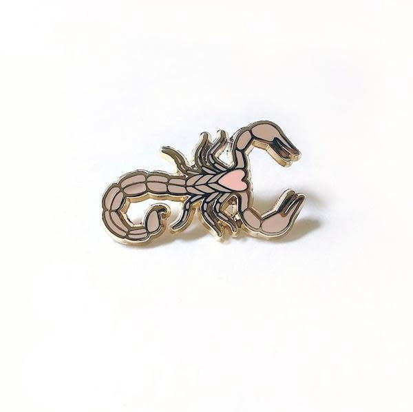 Sand colored Scorpion Enamel Pin