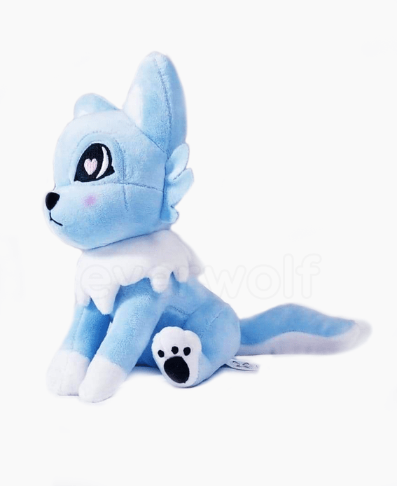 Frost Blue Wolf Plush