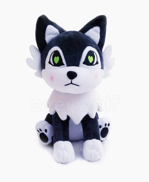 Husky Black Wolf Plush