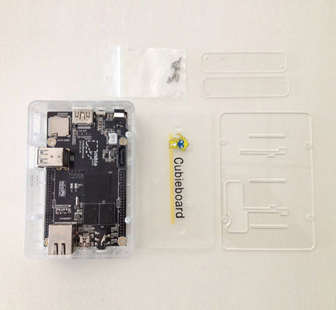 A Transparent Case for Cubieboard A10 Cubieboard2 A20 (incompatible with Cubietruck)
