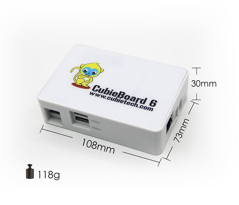 White plastic case for Cubieboard6