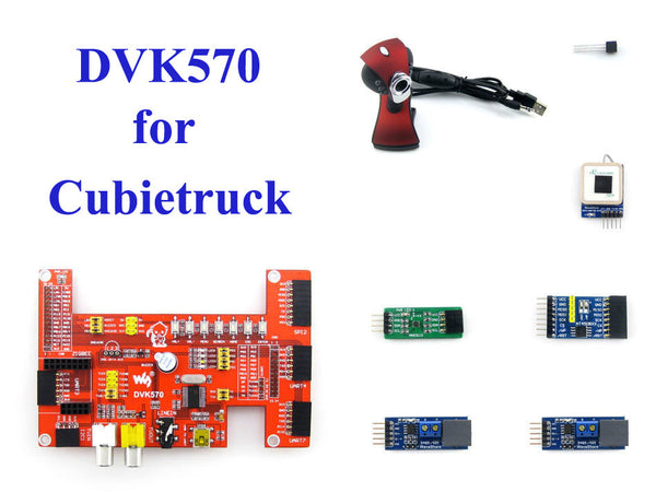 Cubietruck Cubieboard 3 DVK570 Learning Kit--DVK570 + Camera + UART GPS + Modules