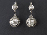 Art Deco platinum and diamond earrings