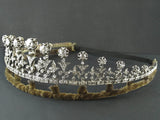 A XIX Century important silver topped, Yellow gold and old cut diamond tiara, convertible into a necklace. Probably French