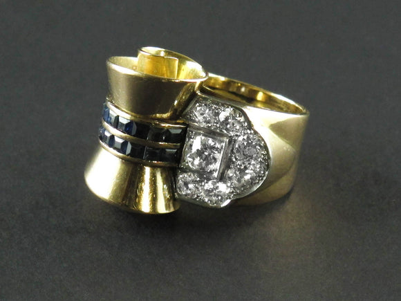1940 gold and diamond ring