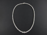 An Art Déco platinum and old-cut diamond kt. 27 circa rivière necklace 1930