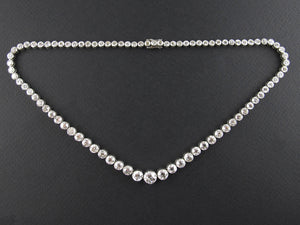 An Art Déco platinum and old-cut diamond rivière necklace 1930