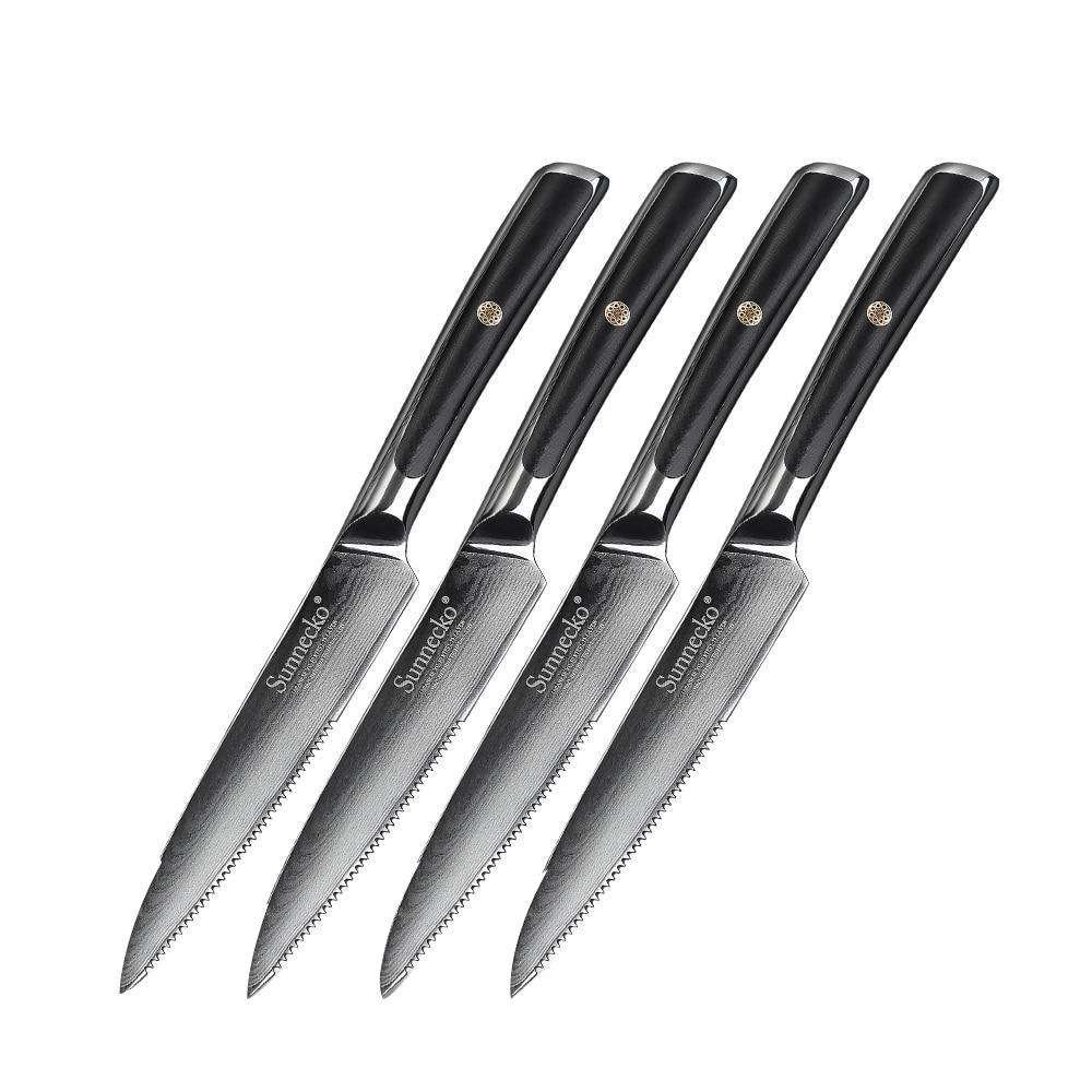 "4pcs Steak Knives / United States 5"" Damascus Steel Steak Knife Set"