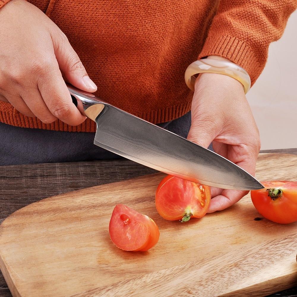 6.5-inch Japanese Chef's Knife (Damascus Steel)