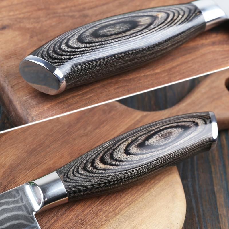 8-inch Japanese Chef's Knife (Damascus Steel)
