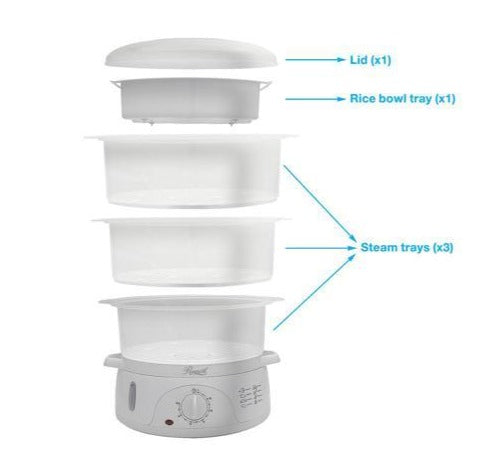 3-Tier Rice Cooker And Food Steamer