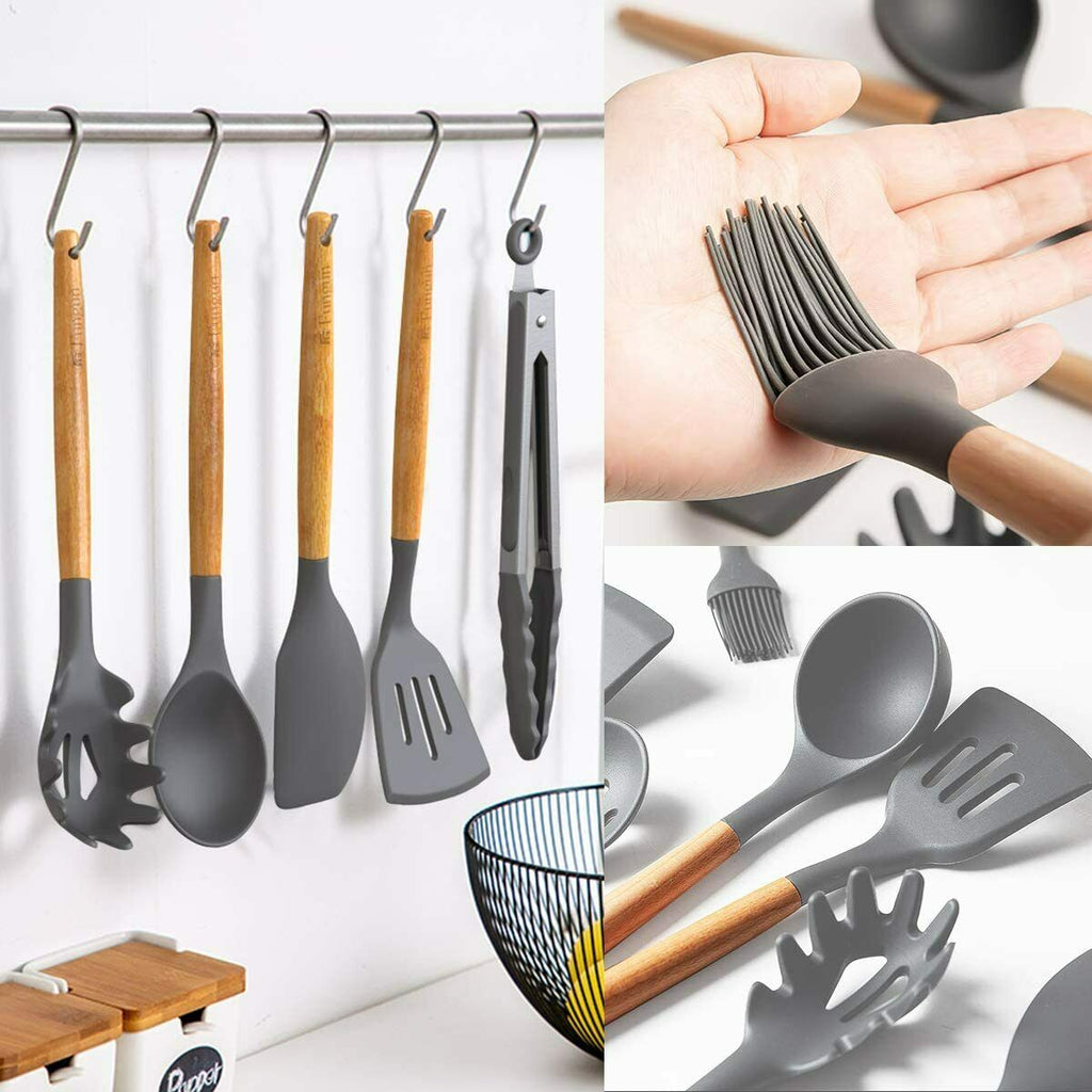 11 Pc Silicone Kitchen Utensils Set