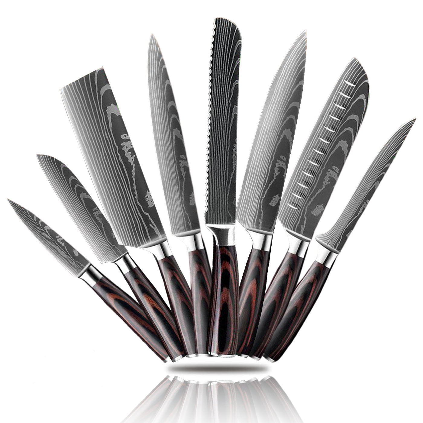 "8 pcs (Over 50% off) / United States ""The Steely Collection"" by Knives Boutique"