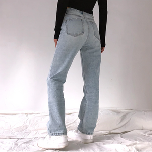 High Waist Loose Comfortable Jeans Mom Jeans Washed Boyfriend Jeans