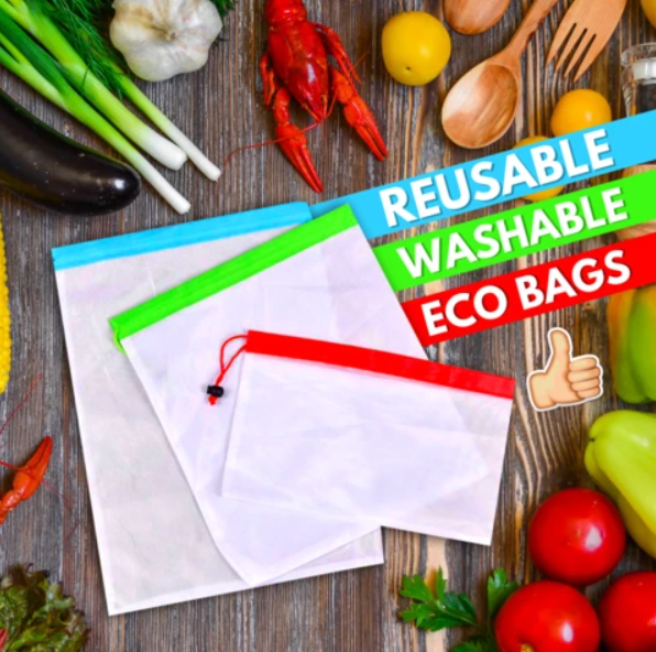 Reusable Produce Bags (Set of 12)