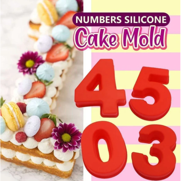 Easy Big Numbers Baking Mould