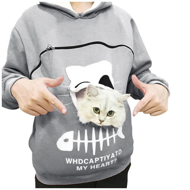 Cat Lovers Hoodie Cuddle Pouch