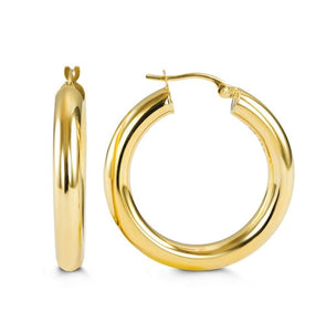 10k 4mm Gold Hoops