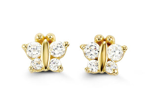 14k Yellow Gold Studs (Multiple Colours Available)