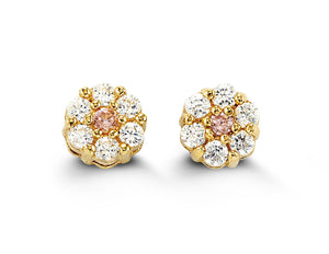 14k Yellow Gold Studs (More Colours Available)