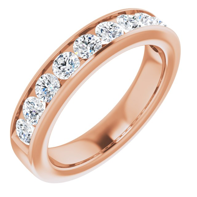 14K Rose 2.5 mm Round Forever One™ Moissanite Anniversary Band