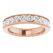 Load image into Gallery viewer, 14K Rose 2.5 mm Round Forever One™ Moissanite Anniversary Band