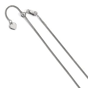 Sterling Silver Adjustable 1.4mm Curb Chain
