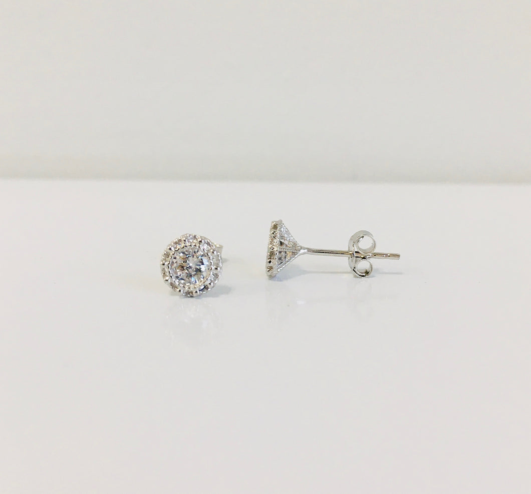 10k Gold CZ Studs (Yellow or White)