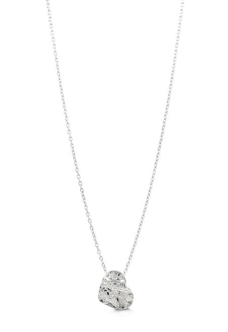 10k White Gold Heart Necklace