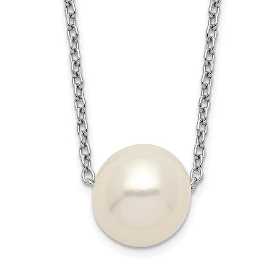 Sterling Silver 9-10mm Pearl Necklace