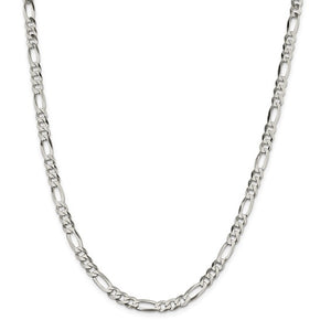Sterling Silver 5.5mm Flat Figaro Chain