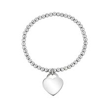 Load image into Gallery viewer, Bead Heart Charm Stretch Bracelet